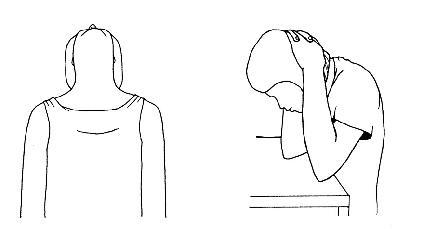 Protažení sestupné části svalu trapézového