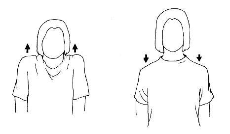 Protažení šíje a ramenního pletence