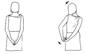 Protažení deltového svalu a horní část paže