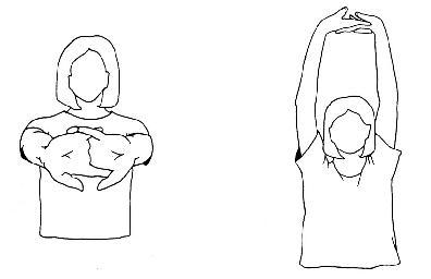 Protažení vnitřní části paže